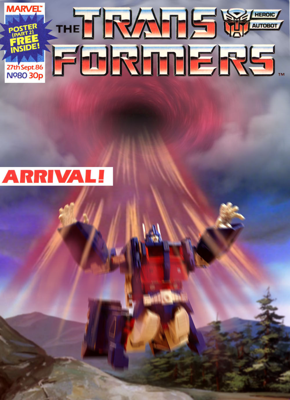 Transformers UK Comic 80 OptimusTimeLord collab
